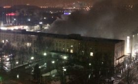 Дым на территории кампуса МФТИ 16 декабря