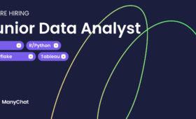 Вакансия младшего аналитика данных в ManyChat